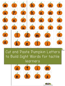 Fall Activities for Sight Word Center
