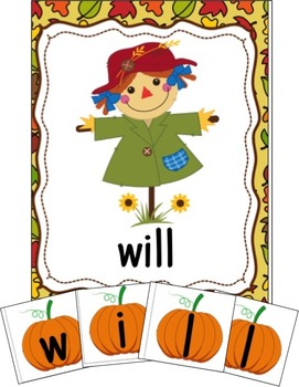 Fall Activities Kindergarten and First Grade:Sight Word Center