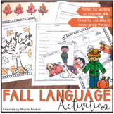 Fall Activities for Speech Therapy
