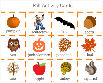 Fall Activity Cards