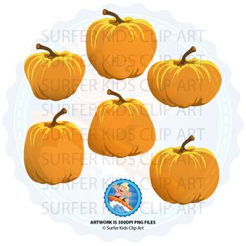 Pumpkins and Fall Activity Clip Art