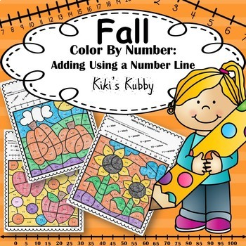 Fall Activity: Color By Number Addition