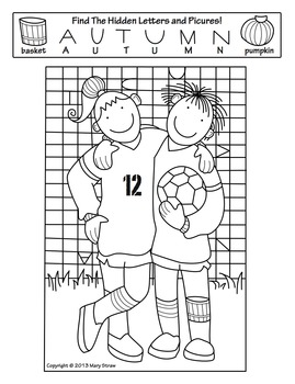 Fall Activity Coloring Pages