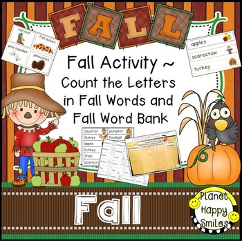 Fall Activity ~ Count the Letters in Fall Words and Fall W