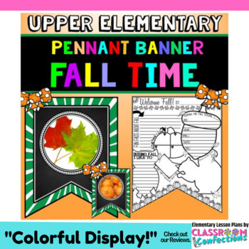 Fall Writing Activity: Banner with Fall Writing Prompts: B