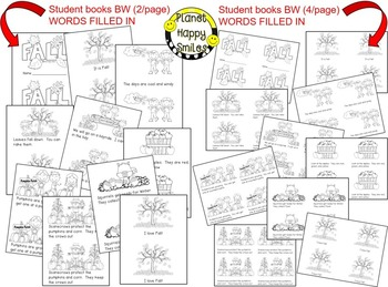 Fall Activity ~ Fall Reader and Student Books