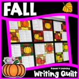 Fall Activity: Fall Writing Prompts Quilt for a Bulletin Board Display