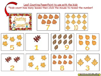 Fall Activity ~ Leaf Counting and Graphing