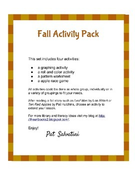 Fall Activity Pack - Freebie