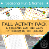 Fall Activity Pack - 6 Autumn-Themed Activities for Elementary Classrooms