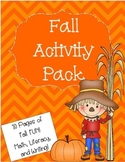 Fall Activity Pack - Math, Literacy, and Writing