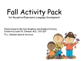 Fall Activity Pack for Receptive/Expressive Language Development