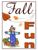 Fall Activity Packet. Autumn Theme Packet. 15 Pages of Puz