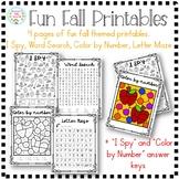 Fall Activity Printables