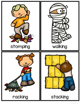 Fall Activities Nouns and Verbs