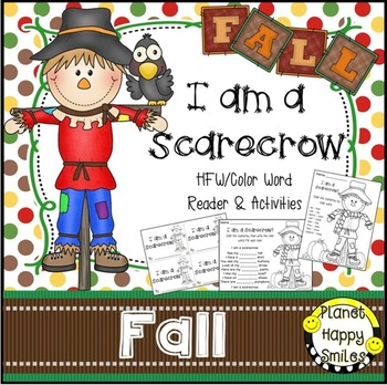 Fall Activity ~ Scarecrow HFW and Color Word Activities