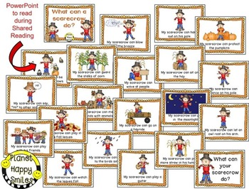 Fall Activity ~ Scarecrow Writing(EDITABLE) ~ What can a Scarecrow Do?