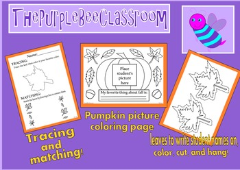 Fall Coloring Pages Activity Set