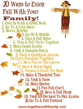 Fall Activity Sheet