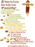 Fall Activity Sheet