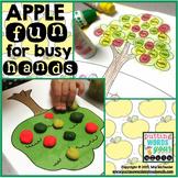 Fall Activity for Any Skill | Apple Tree Smash Mat and Dot Art