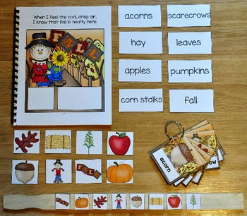 "Fall Adapted Book And Vocabulary Activities --""Fall Into Fall"""