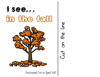 Fall Adapted Book and Make-a-Scene for Preschool, Pre-K and Special Needs