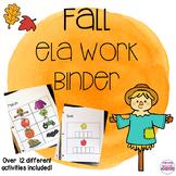 Fall Language Arts Binder