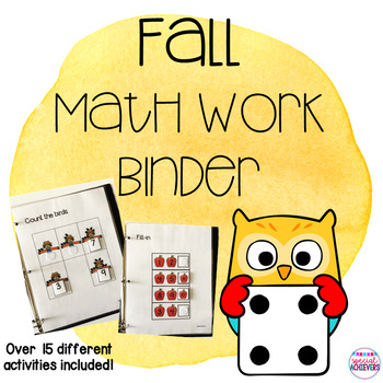Fall Adapted Math Binder