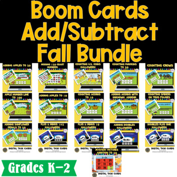 Fall Add/Subtract BUNDLE Interactive BOOM Cards