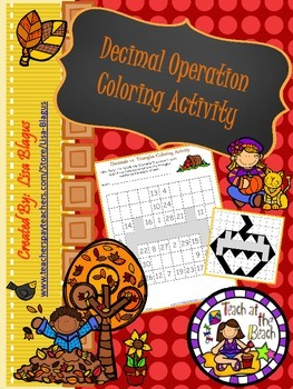 Autumn All Operation Decimal Activity
