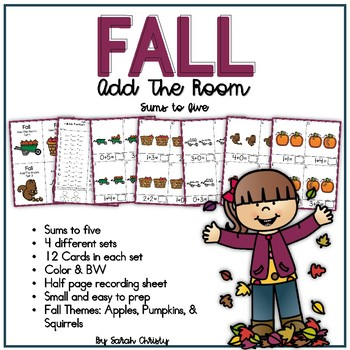 Fall Add The Room: An Addition Math Center / Activity