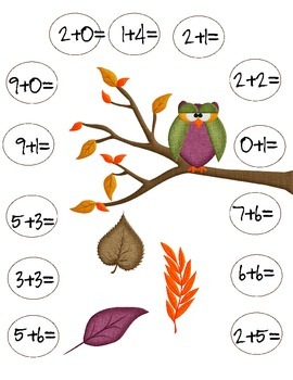 Fall Adding and Subtracting Mats