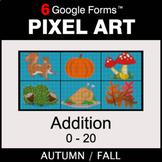 Fall: Addition 0-20 - Pixel Art Math | Google Forms