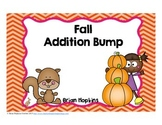 Fall Addition Bump Fluency Games