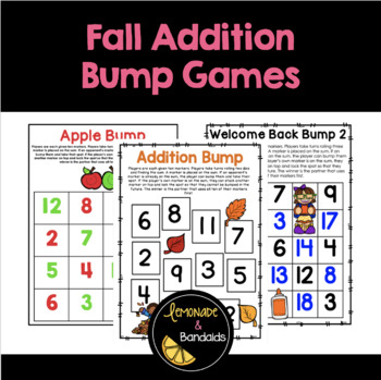 Fall Addition Bump Game