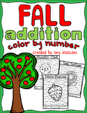 Fall Addition Color by Number