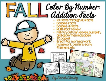 Fall Addition: Color by Number