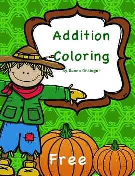 Fall Addition Coloring