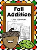Fall Addition Coloring Worksheets