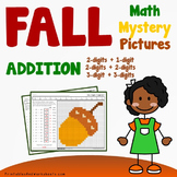 Hidden Pictures Fall Addition Worksheets, Autumn Coloring Sheets