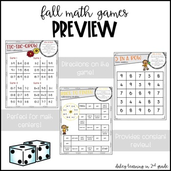 Fall Addition Math Games
