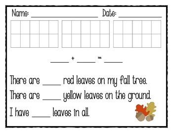 Fall Addition Math Story