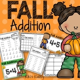 Fall Addition Practice: Worksheets, Task Cards, Write the Room / Digital Centers