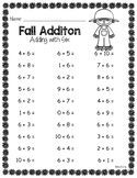 Fall Addition Practice Worksheets