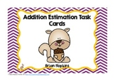Fall Addition Regrouping Estimation (Rounding) Task Cards