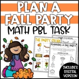 Fall Addition & Subtraction Activity - Plan a Party for Scarecrows