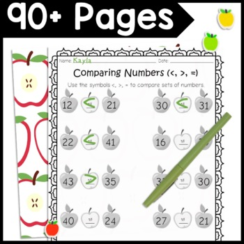 1st Grade Fall Math Homework and Lesson Ideas