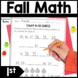 1st Grade Fall Math Homework Worksheets