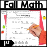 Fall Math Worksheets for 1st Grade